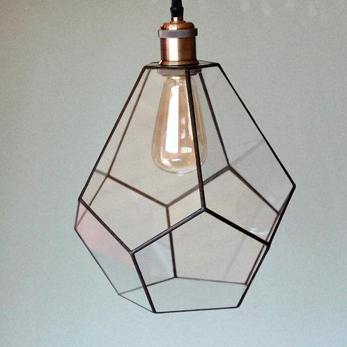 геометрическая лампа, люстра лофт, стеклянная лампа, подвесной геометрический светильник,