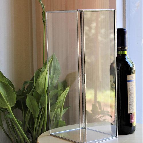 футляр для вина, стеклянная коробка на свадьбу, коробка для бутылок, свадьба, витражная коробка