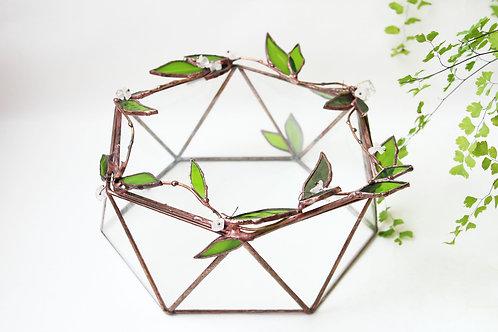 шкатулка тиффани, шкатулка из стекла, авторская шкатулка, шкатулка цветы