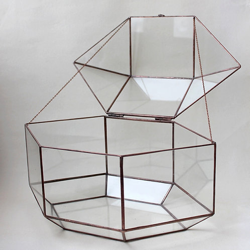 wedding, wedding box, wedding money box, wedding geometric decor, glass holder, glass art