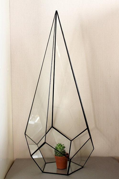 Флорариум Капля высокая напольная, ваза для флорариума, 60см