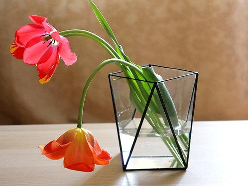 ваза геометрическая, ваза тиффани, флорариум тиффани
