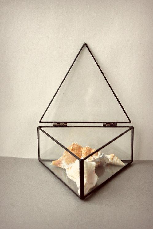 свадебная шкатулка, шкатулка геометрическая, шкатулка стеклянная