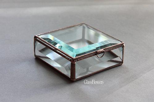 свадебная шкатулка, шкатулка для колец, шкатулка для украшений, стеклянная шкатулка, геометрическая шкатулка, шкатулка спб