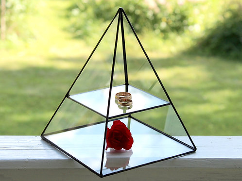 дисплей, стеклянная шкатулка, витражная шкатулка для колец
