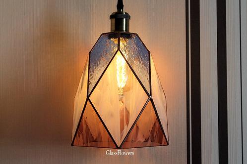 витражная лампа, витражный светильник, лампа лофт, подвесная лампа