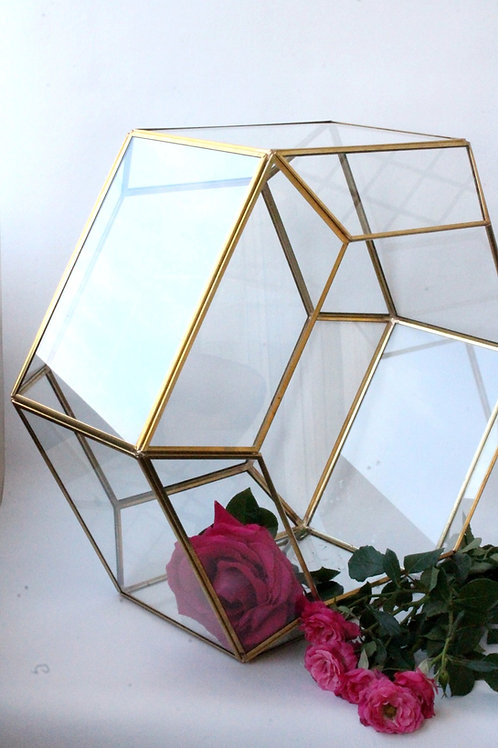 геометрический флорариум, магазин флорариумов, латунный флорариум, золотой флорариум,