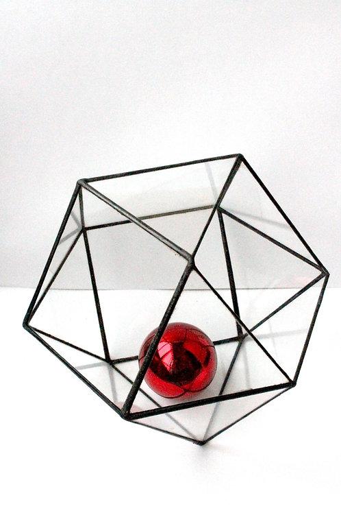 Флорариум геометрический Кубооктаэдр, ваза для флорариума, d-20см