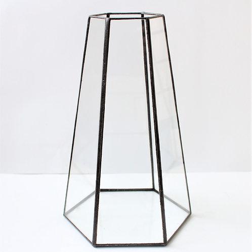 Витражный подсвечник, стеклянный геометрический подсвечник, ваза лофт, ваза из стекла геометрия, геометрический декор, ваза