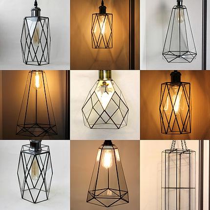 Витражные лампы Лофт