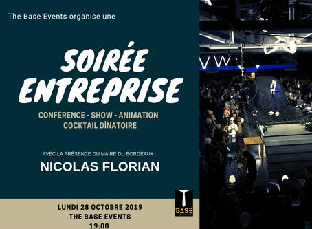 Soirée entreprise : LUNDI 28 OCTOBRE 2019 RÉSERVEZ-VITE VOTRE PLACE