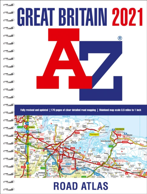 Great Britain A-Z Road Atlas 2021 (A4 Spiral)