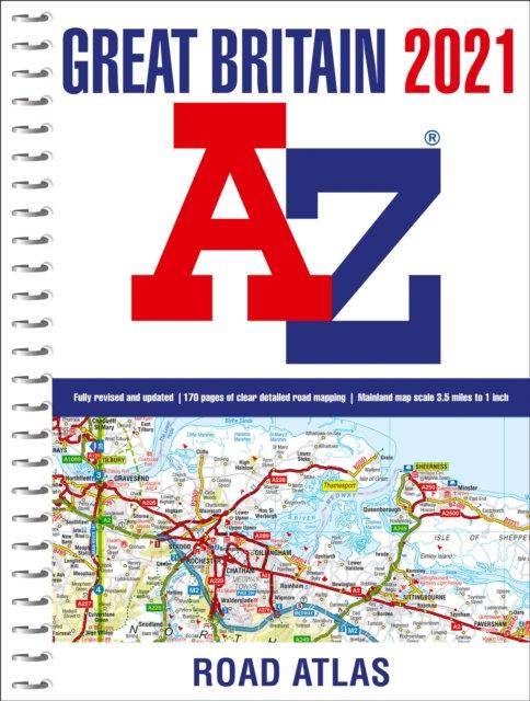 Great Britain A-Z Road Atlas 2021 (A4 Spiral)
