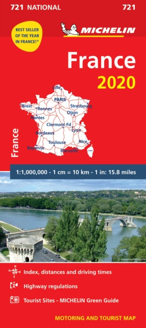 France 2020 - Michelin National Map 721 : Map