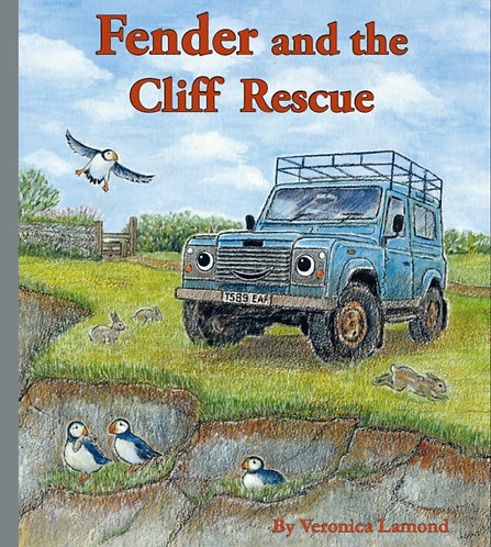 Fender and the Cliff Rescue : 6th book in the Landy and Friends Series 6