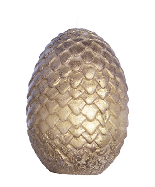 Game of Thrones Sculpted Dragon Egg Candle : Gold