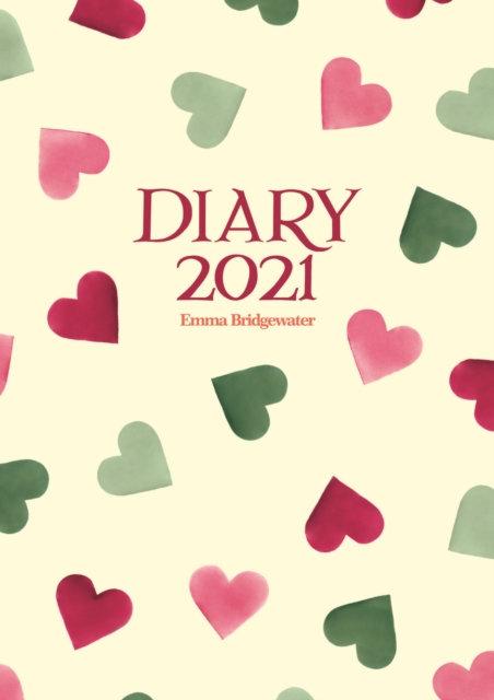 Emma Bridgewater Pink & Green Hearts A6 Diary 2021