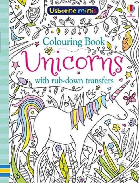 Colouring Book Unicorns with Rub-Down Transfers