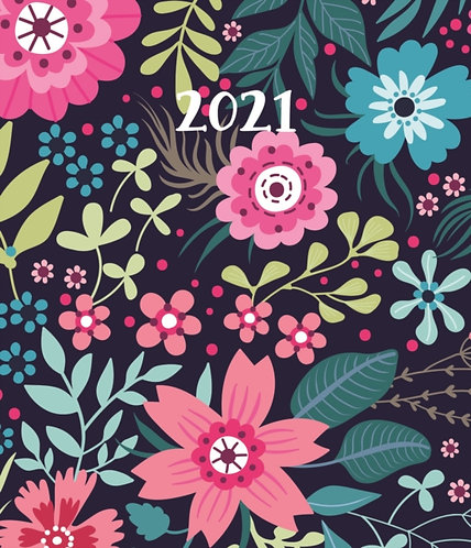 Fashion Diary Floral Pattern Square Pocket Diary 2021