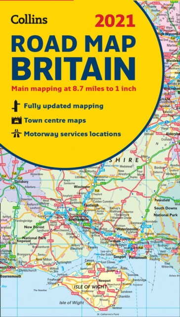 GB Map of Britain 2021 : Folded Road Map