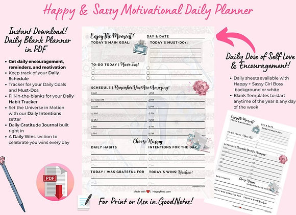 Happy & Sassy Motivational Planner (PDF)