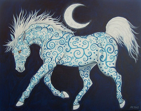 """Dance of the Moon Horse"" Print"
