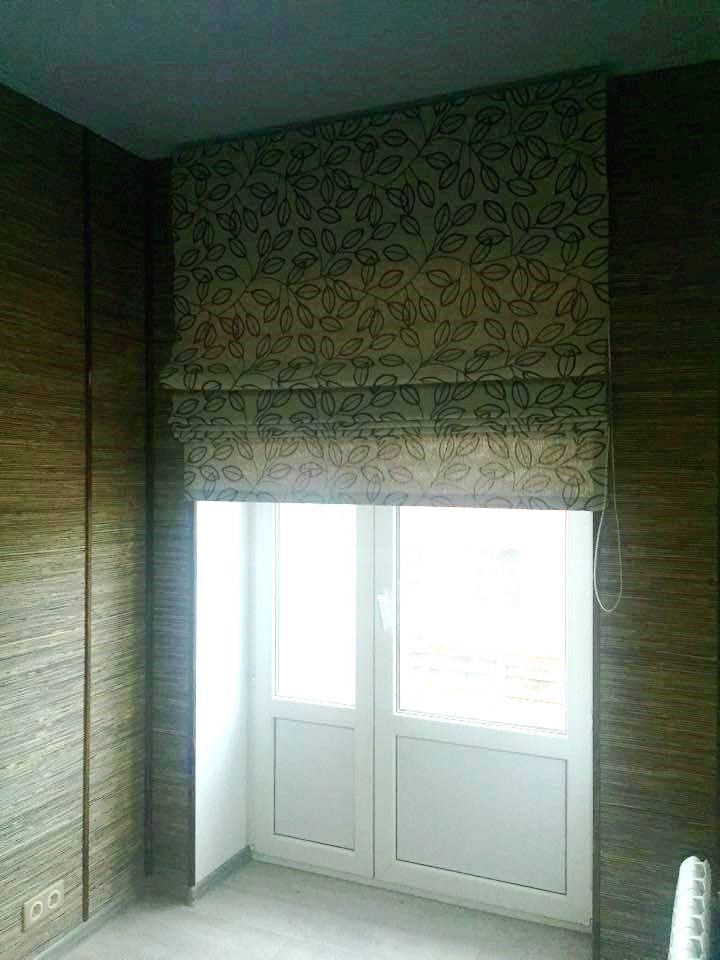 Римская штора в стиле эко
