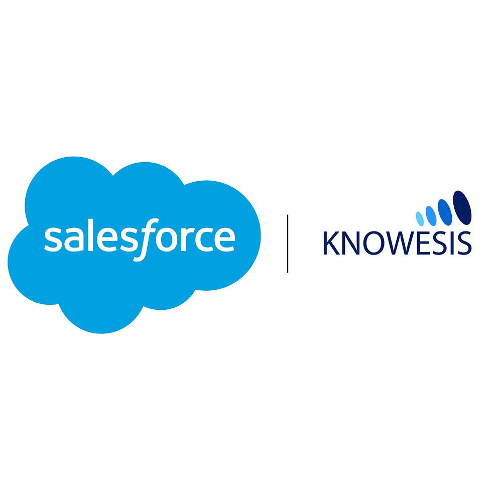 salesforce and knowesis partnership logos