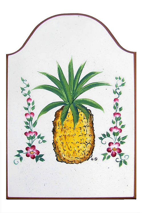 Custom hand painted pineapple sign for home or camper