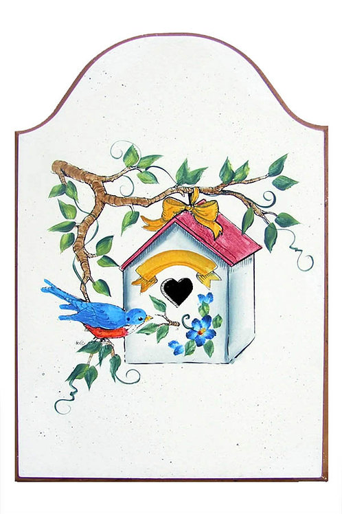 Custom hand painted birdhouse sign for home or camper