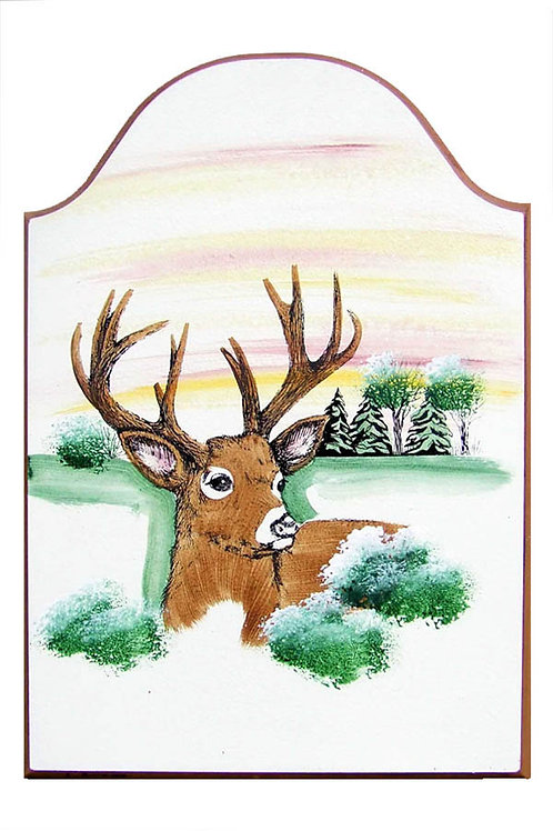 Custom hand painted deer sign for camper home garage shop man cave