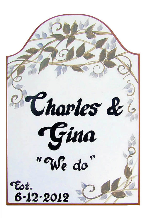 Custom hand painted shabby chic sign for home or camper