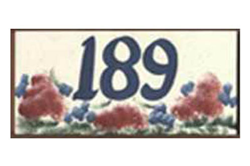 Custom hand painted mailbox style sign with address numbers