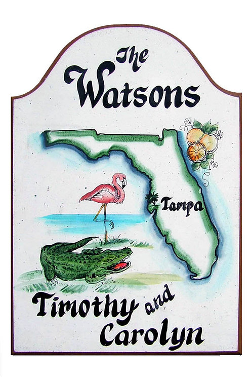 Custom hand painted florida sign for home or camper