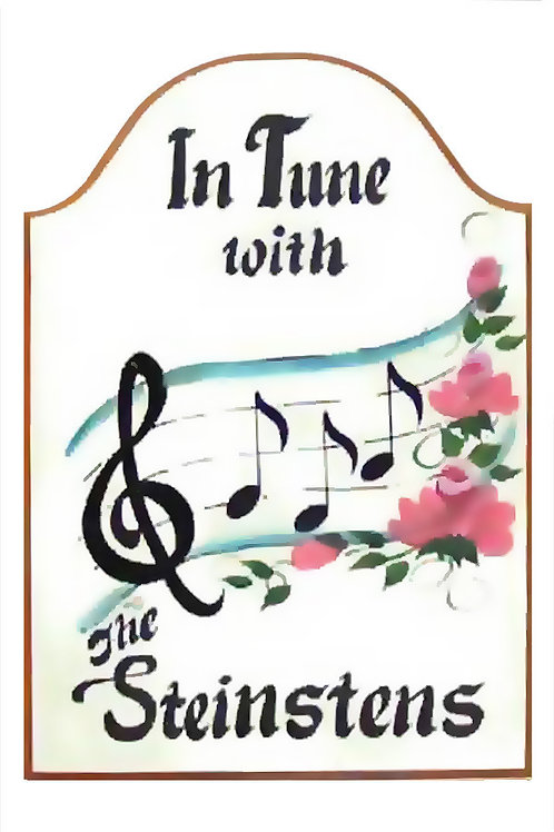 Custom hand painted music sign for home camper or studio