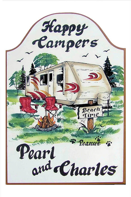 Custom hand painted travel trailer rv sign