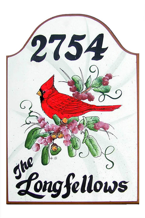 Custom hand painted cardinal sign for home or camper