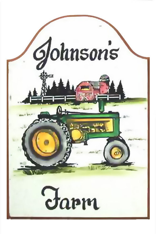 Custom hand painted tractor sign for home barn office camper or garage