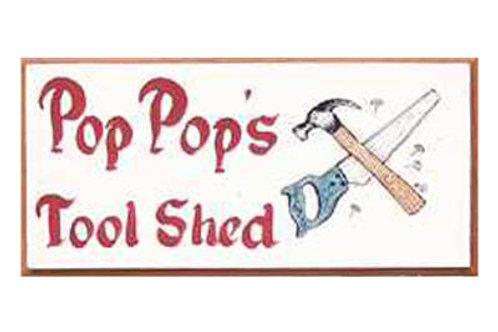 Custom hand painted tool sign for shed or garage