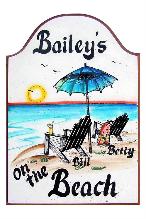 Custom hand painted beach chairs sign for home office camper