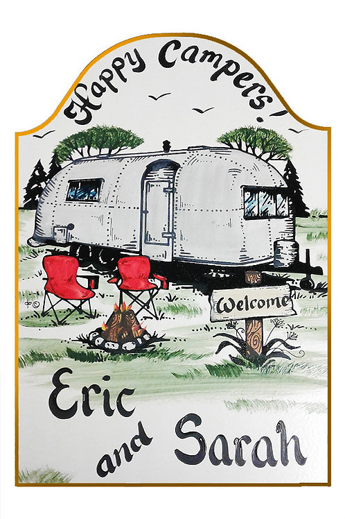 Custom Hand Painted Airstream Camper Sign
