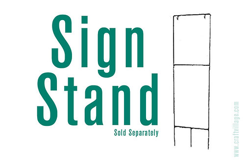 Sign stand for custom camper signs