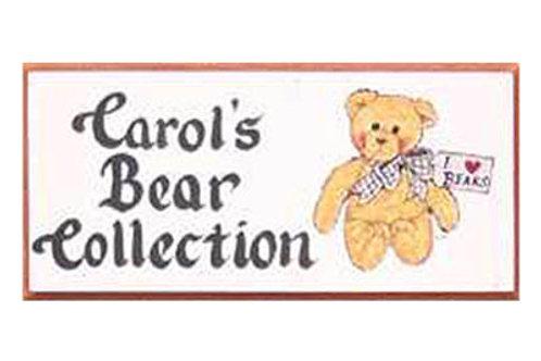 Custom hand painted teddy bear sign