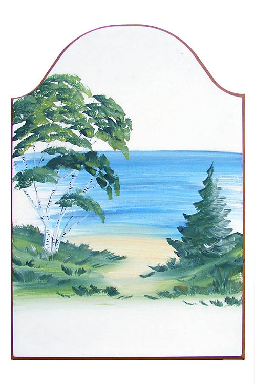 Custom hand painted birch pine tree sign for home or camper