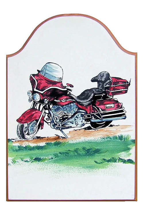 Custom hand painted motorcyclel sign for home or camper