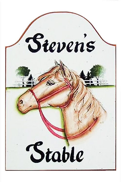 Custom hand painted horse sign for barn home or office