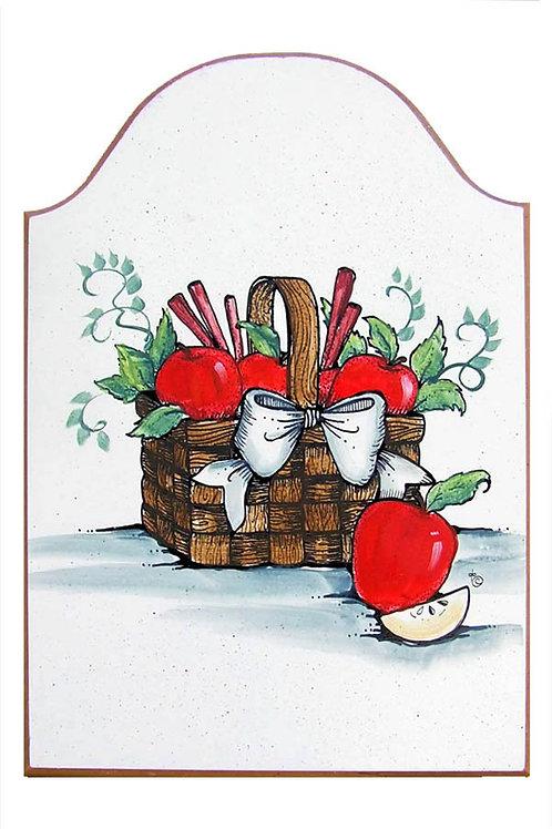 Custom hand painted apple basket sign for home or camper