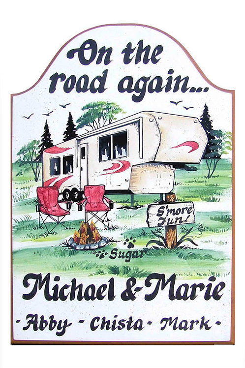Custom Hand Painted Fifth Wheel Camper Sign