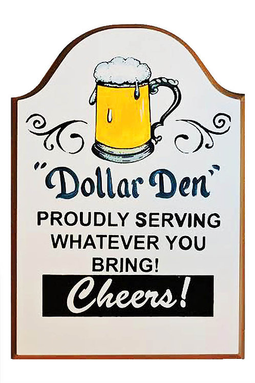 Custom hand painted bar sign with beer mug
