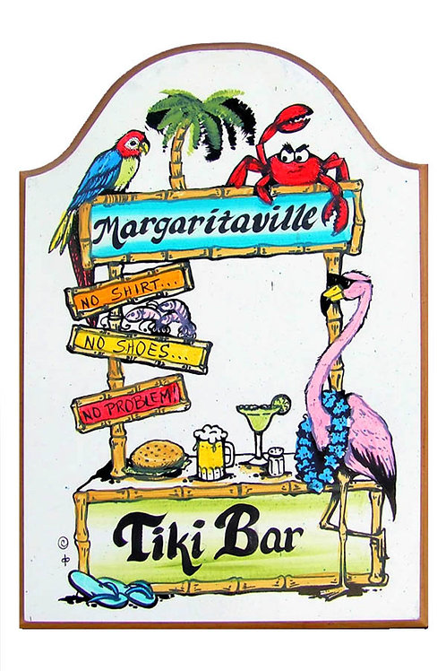 Custom hand painted tiki bar sign for home or camper